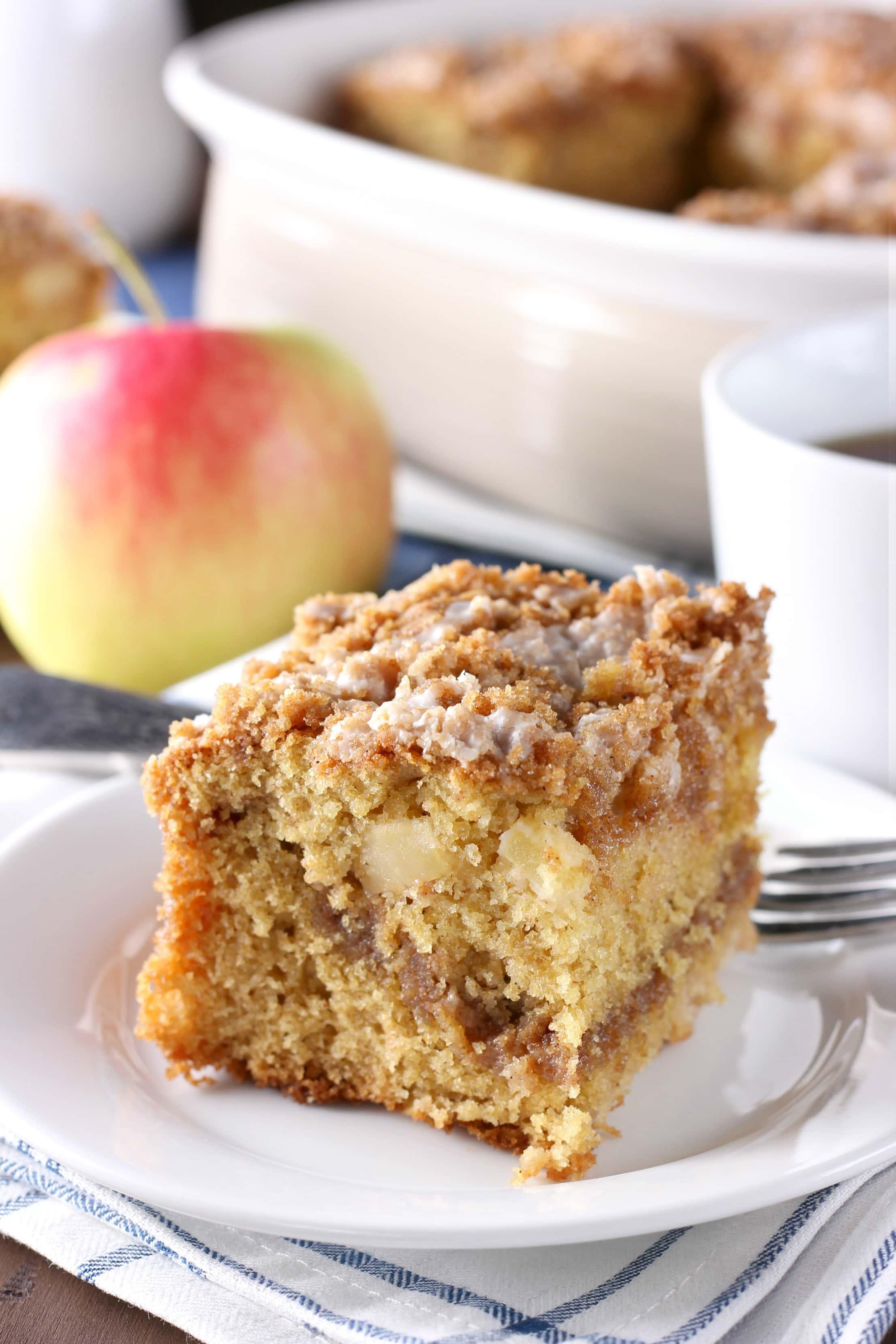 Cinnamon Swirl Apple Coffee Cake Whole Wheat A Kitchen