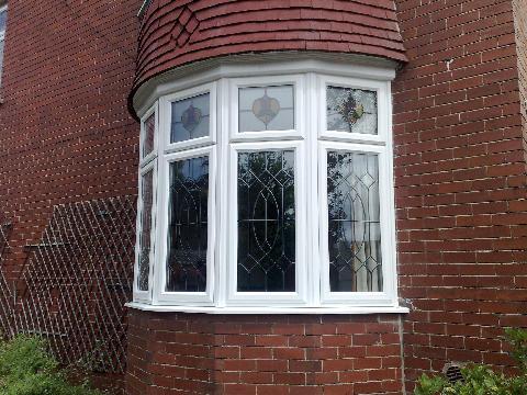 Upvc Frames Double Glazing Stained Glass Windows
