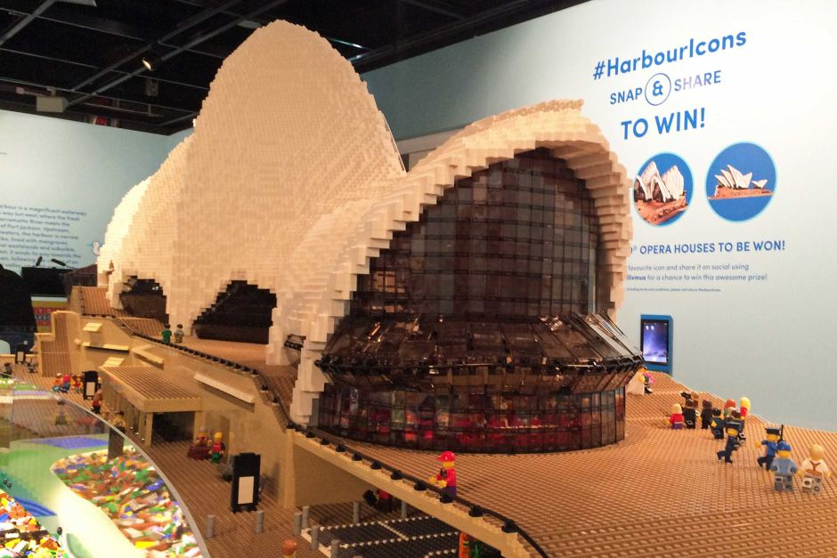 Sydney Harbour s iconic structures recreated using millions of Lego     Lego Exhibition  Sydney Opera House