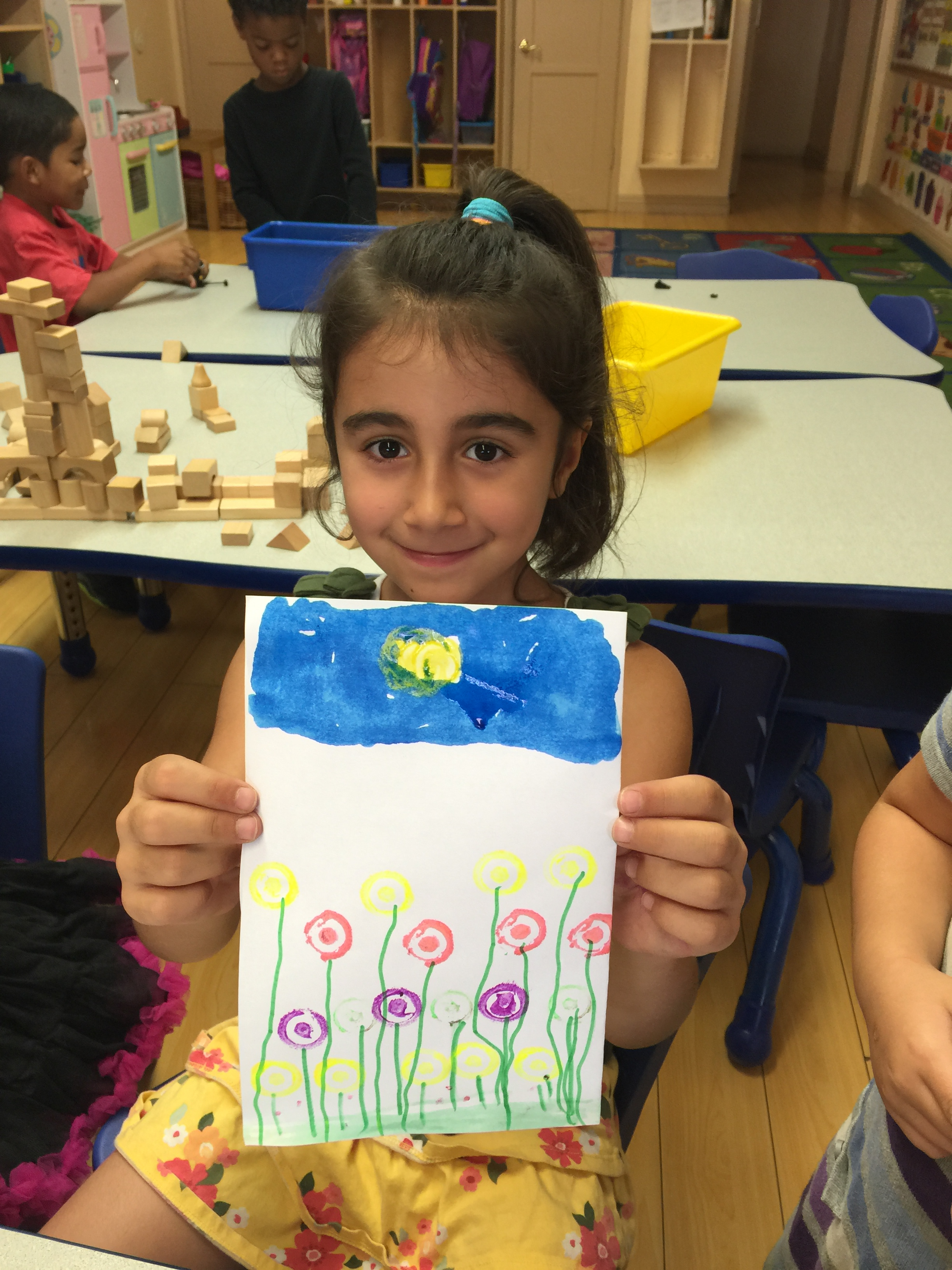 Fun art activity at Sherman Oaks preschool
