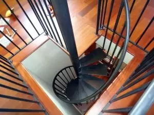 Custom Spiral Stairs Spiral Staircase Design In Ct Nyc   5 Foot Spiral Staircase   Metal   Hayden Gray   Reroute Galvanized   Steel   Handrail