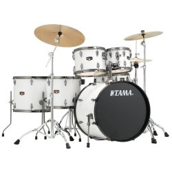 Tama IP62H6N BSGW Imperialstar 6 Piece Drum Set with Hardware and     Tama IP62H6N BSGW Imperialstar 6 Piece Drum Set with Hardware and  Cymbals SUGAR WHITE