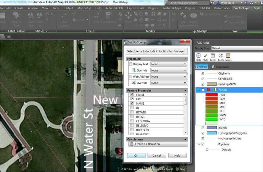AutoCAD Map 3D   ACE Hellas S A  Use links and tooltips to increase feature productivity