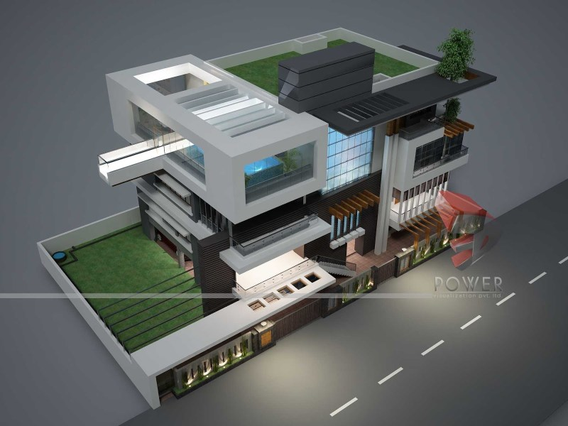 Ultra Modern House Plans   Homes in kerala  India Ultra Modern House Plans