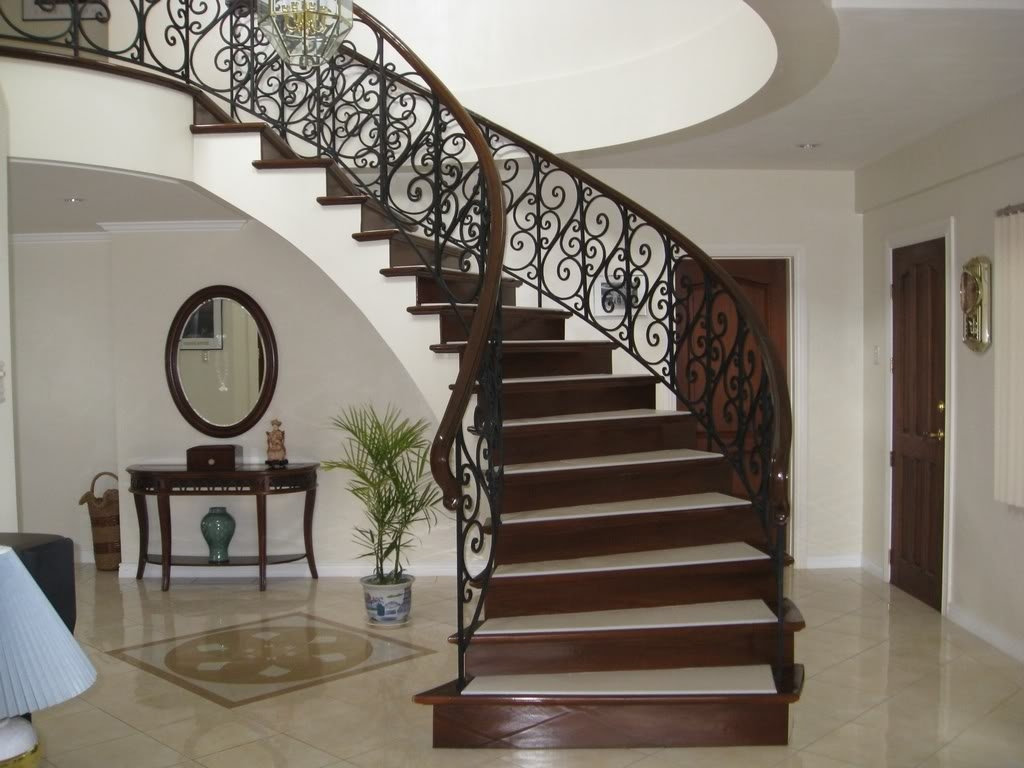 Enchanting Beautiful Staircase Design Of Round Stair Of Your E Its   Beautiful House Stairs Design   American   Fancy   Simple   Grill   Rich
