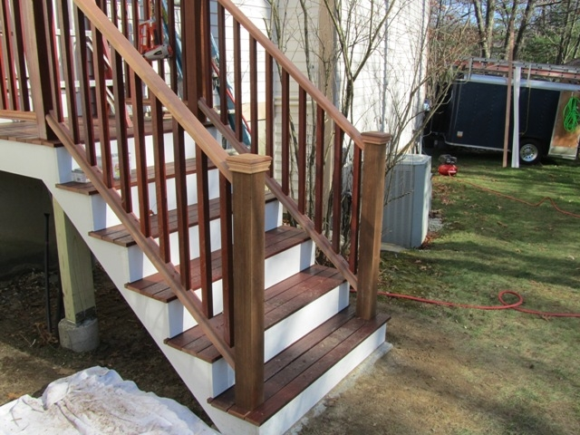 Installing Porch Railings Concord Carpenter | Mahogany Handrails For Stairs