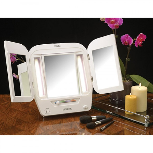 Jerdon Lighted Makeup Mirror