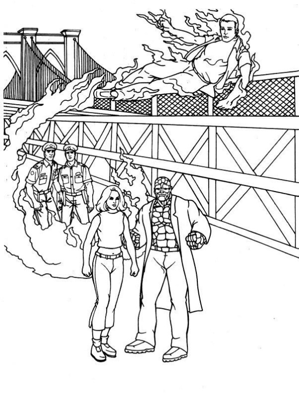 fantastic four coloring pages # 50