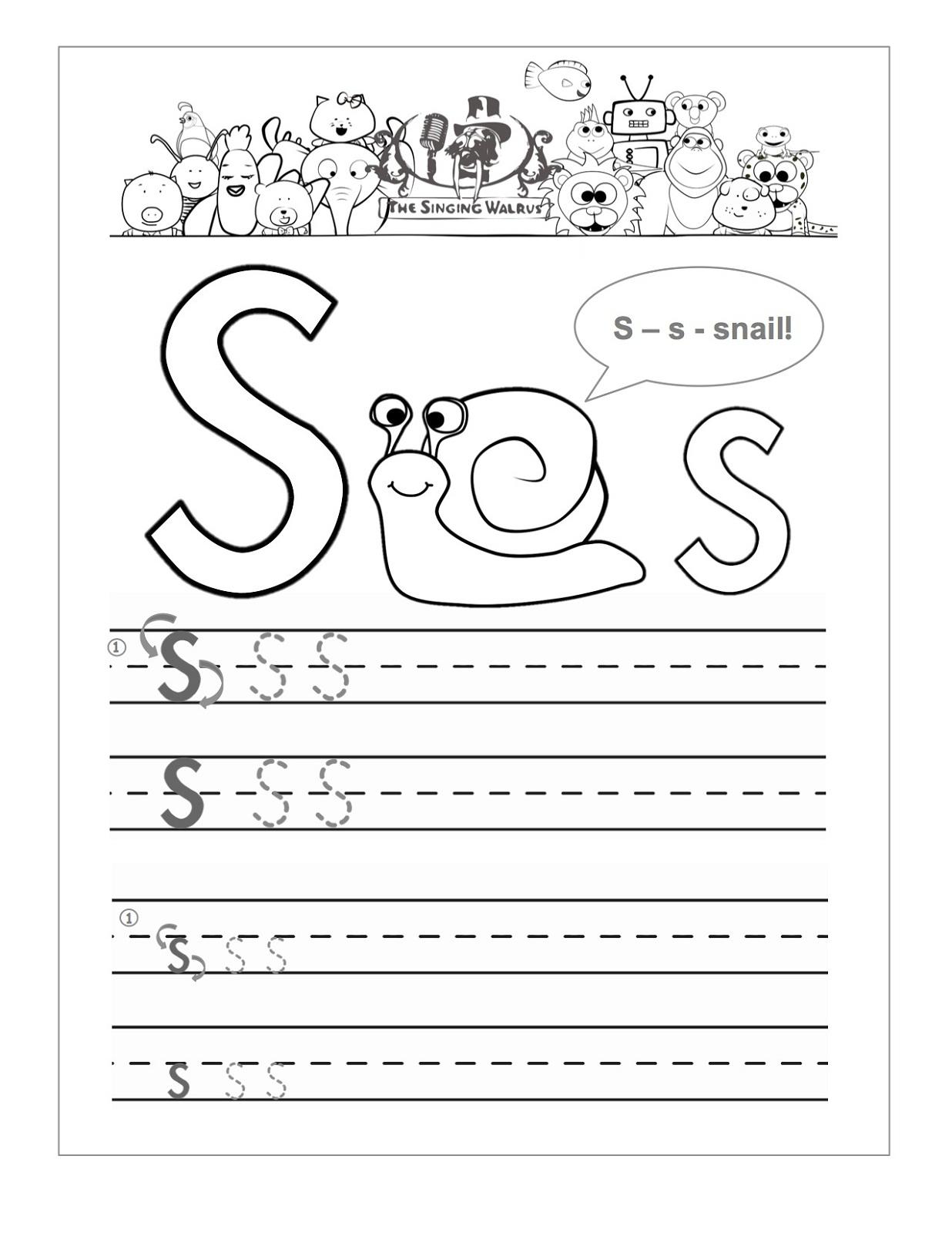 Letter S W Ksheets Preschoolers Free W Ksheets Libr Ry