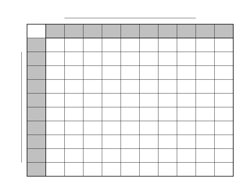 Printable 100 Square Board