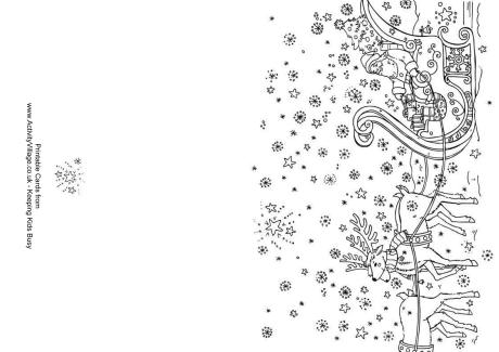 christmas card coloring pages # 22