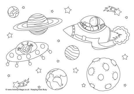 space coloring page # 15