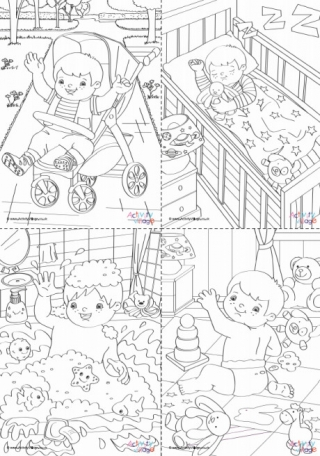 daily coloring pages # 1