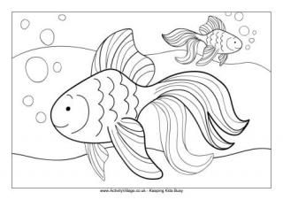 goldfish coloring page # 9