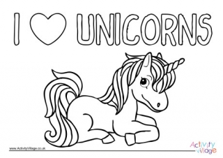 unicorn color pages # 5