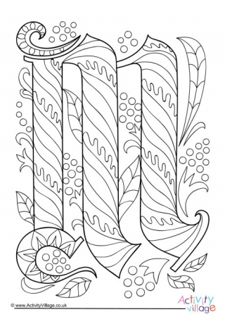 m coloring page # 16