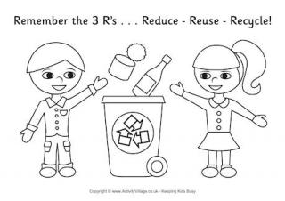 recycle coloring pages # 2