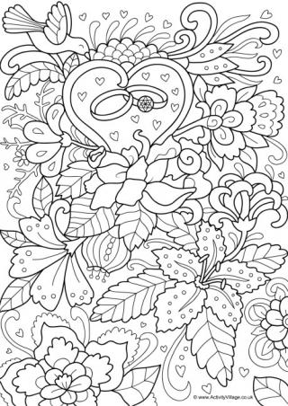wedding coloring page # 10