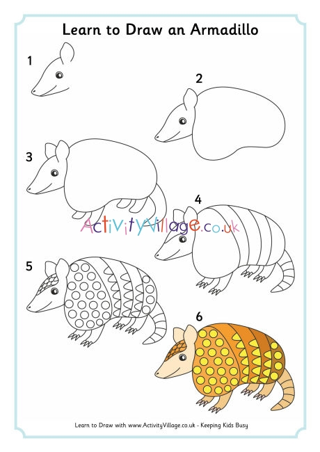 how to draw an armadillo # 4