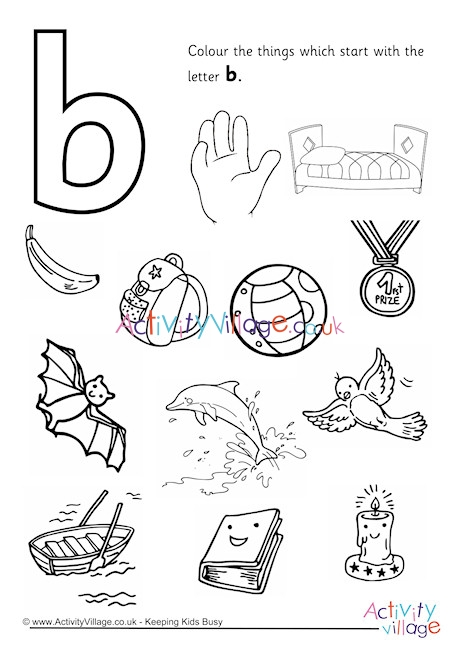 letter b coloring page # 13
