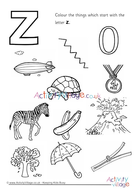 letter z coloring page # 8