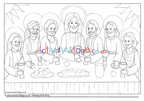the last supper coloring page # 52