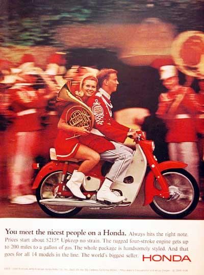 1966 Honda Scooter Classic Vintage Print Ad