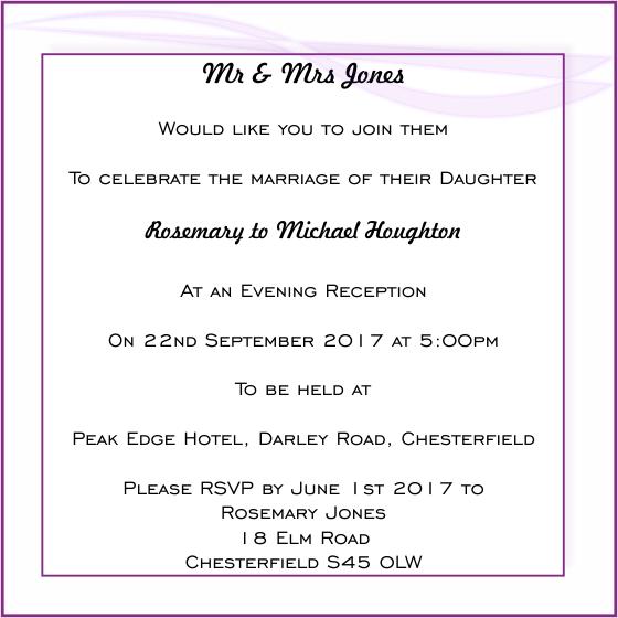 Wedding Invitation Card Examples