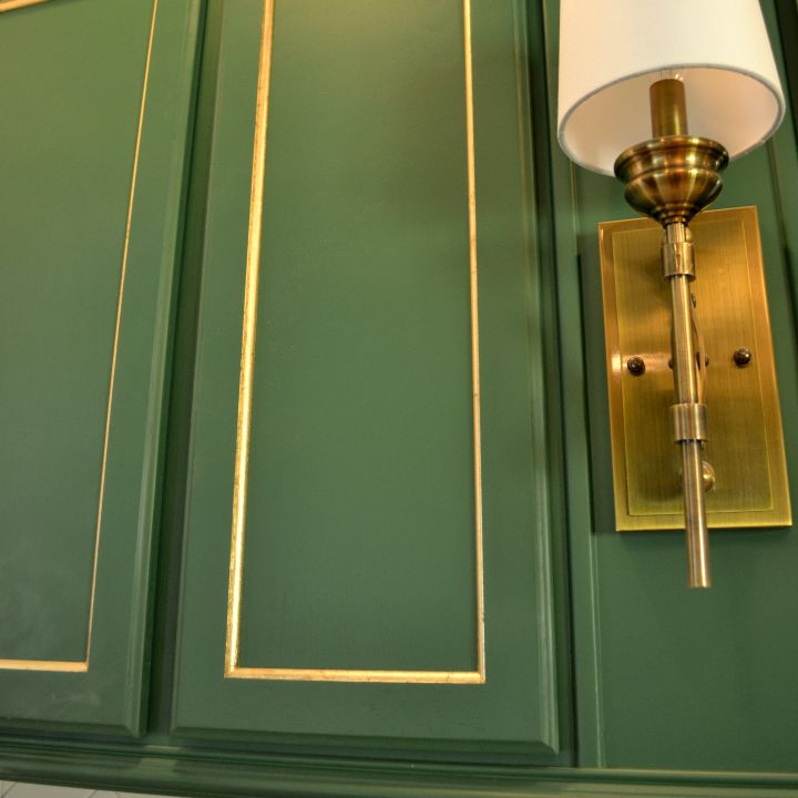 Adding Shimmer Amp Shine To My Cabinet Doors With Gold Leaf