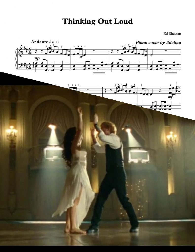thinking out loud piano sheets