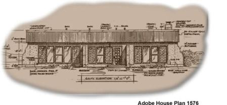 Solar Adobe House Plan 1576   Affordable solaradobe house plans Two bedroom solaradobe house plan Scroll down to add