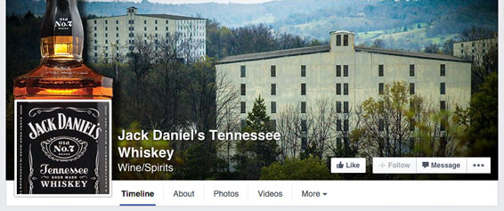 Jack Daniels - Profile Picture and Cover Photo combination on their Business Page 2014 | #Facebook #design