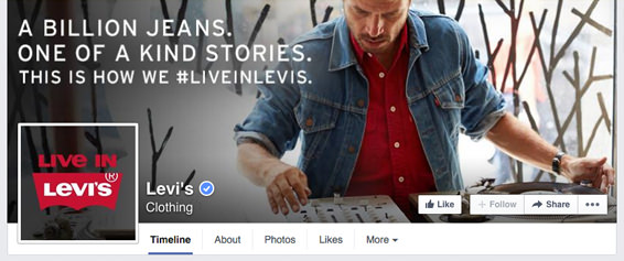 How to create a seamless facebook cover photo and profile picture levis fb business page timeline incorporating the profile picture with the cover photo accmission Image collections
