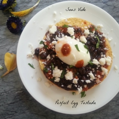 Perfect Egg Tostadas Cooked on Sous Vide