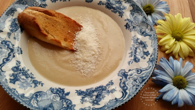 Creamy Roasted Cauliflower Soup Recipe #LentenRecipes #ABRecipes