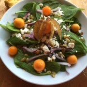 Gooseberries and Spinach Salad #ABRecipes
