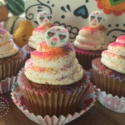 Sugar Skull Pumpkin Cupcakes prepared with ingredients that you can easily find at your local supermarket #ABRecipes