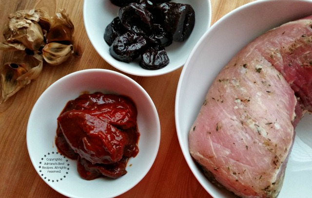 Ingredients for the Chipotle Prune Pork Loin