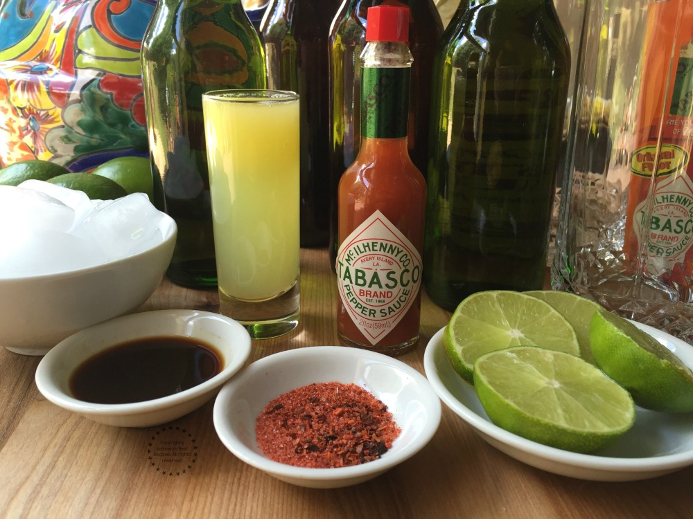 Ingredients for the Michelada Cocktail