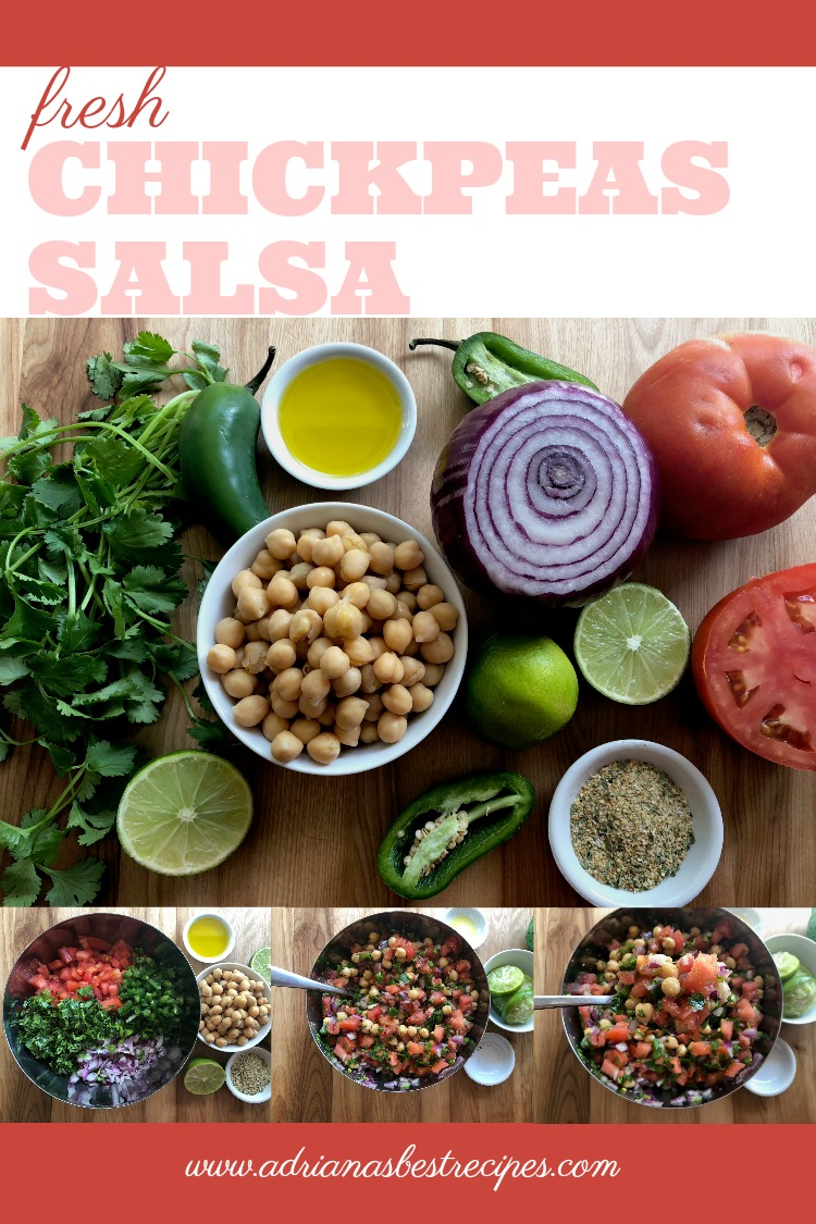 How to make fresh chickpeas salsa