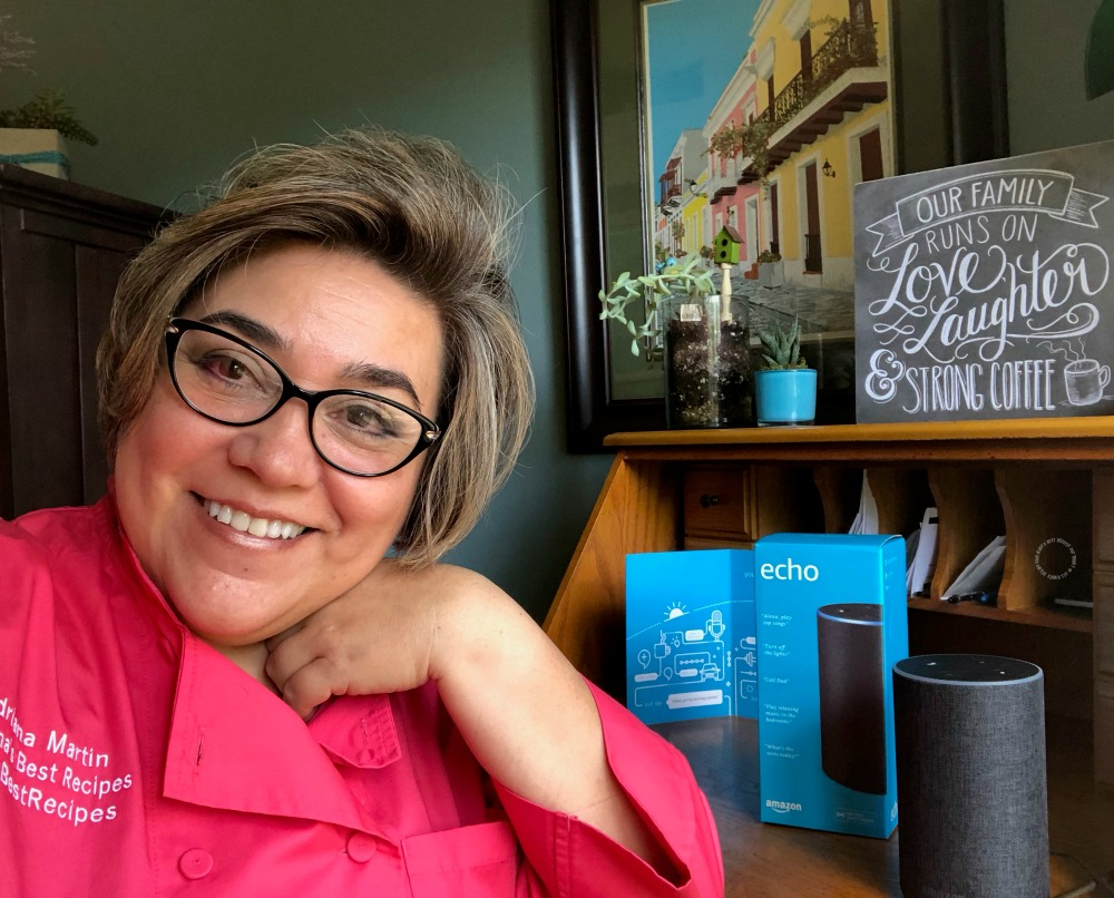 Chef Adriana Martin recipe inspiration with Alexa Skill Blueprints