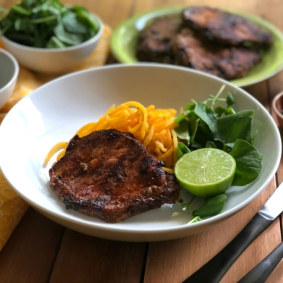 Grilled Adobo Pork Chops