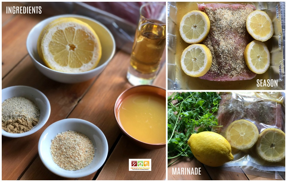 Ingredients and preparation process for the tequila lemon roasted pork loin recipe