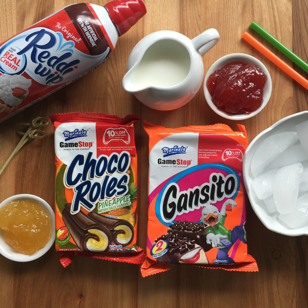 Ingredients to make the Mexican Milkshakes