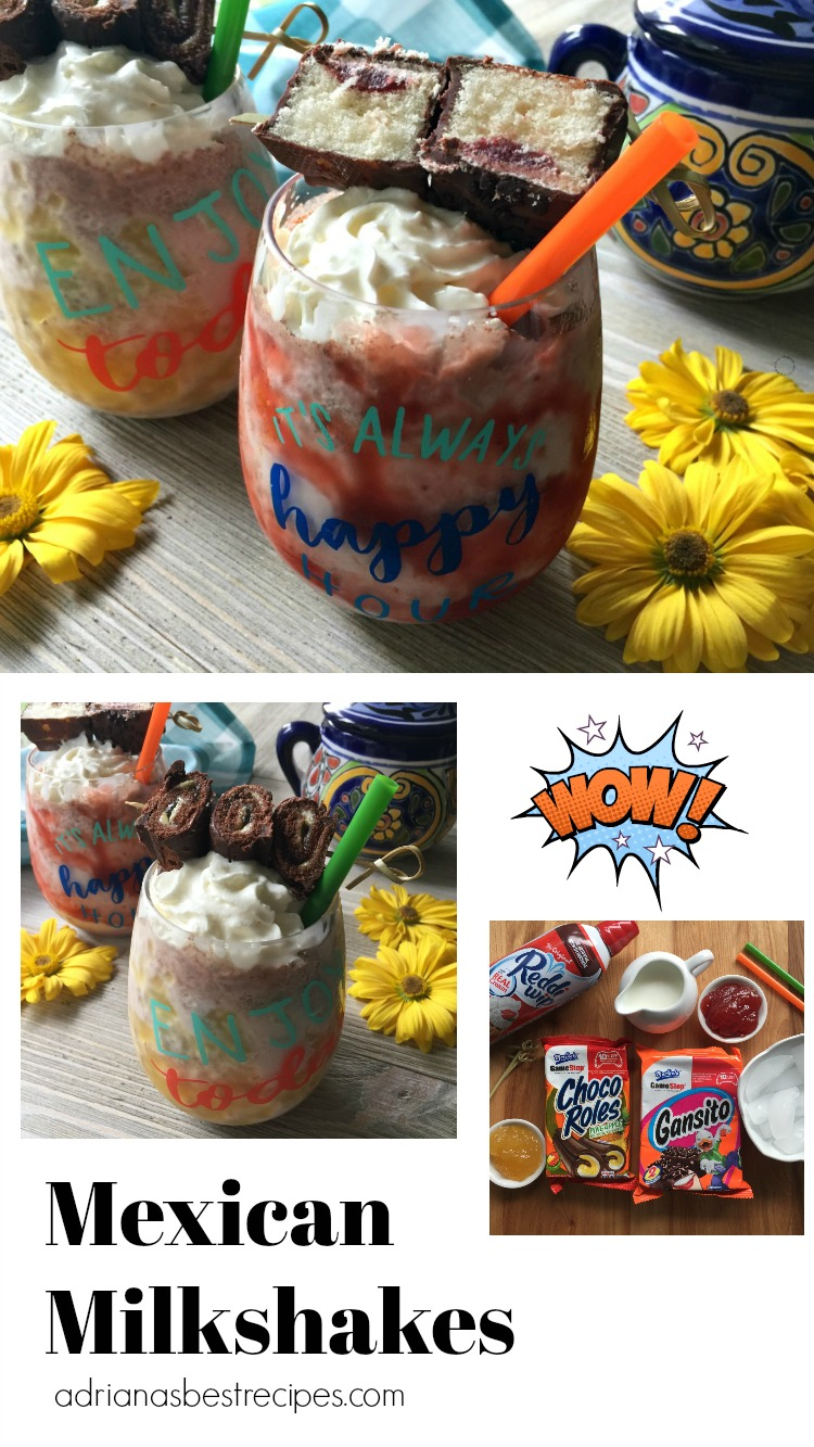 The Mexican milkshakes are a sweet drink that you can share with all the family. The one made with the