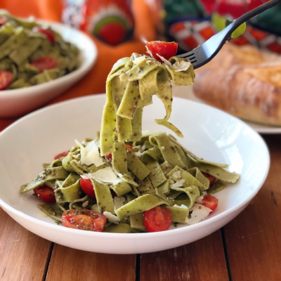 Florida Tomatoes Green Fettuccine