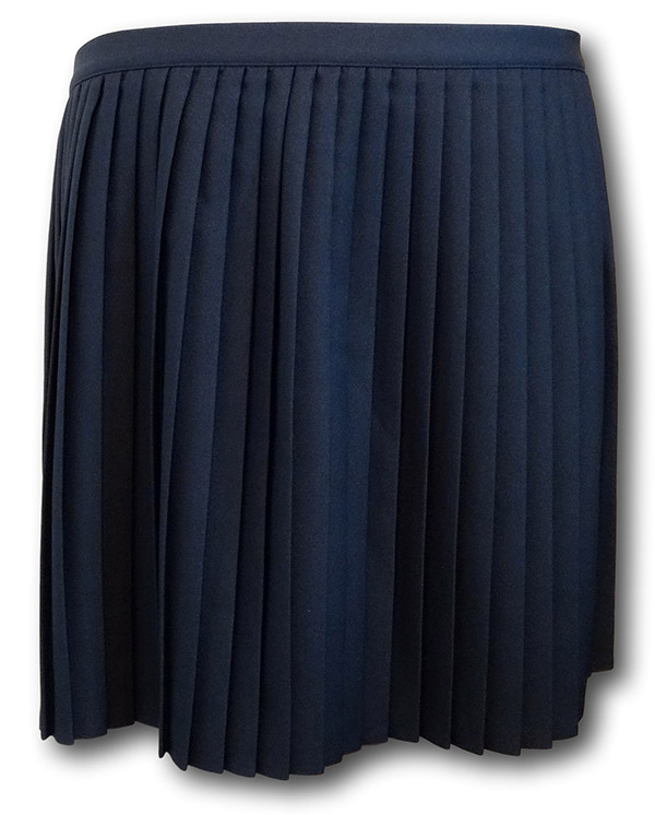 Navy Blue Wrap Around Pleated P E Amp Games Skirt