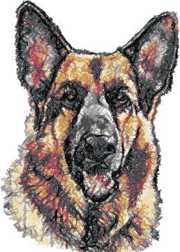 Advanced Embroidery Designs German Shepherd Dog