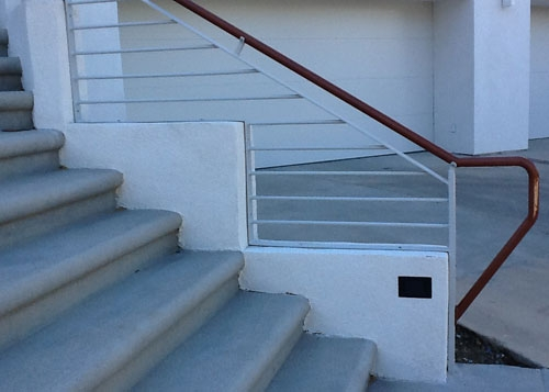 Ornamental Iron Balcony Stair Railings Hand Guard Rails | Commercial Handrails For Outdoor Steps | Simplified Building | Stair Treads | Porch | Front Porch | Custom