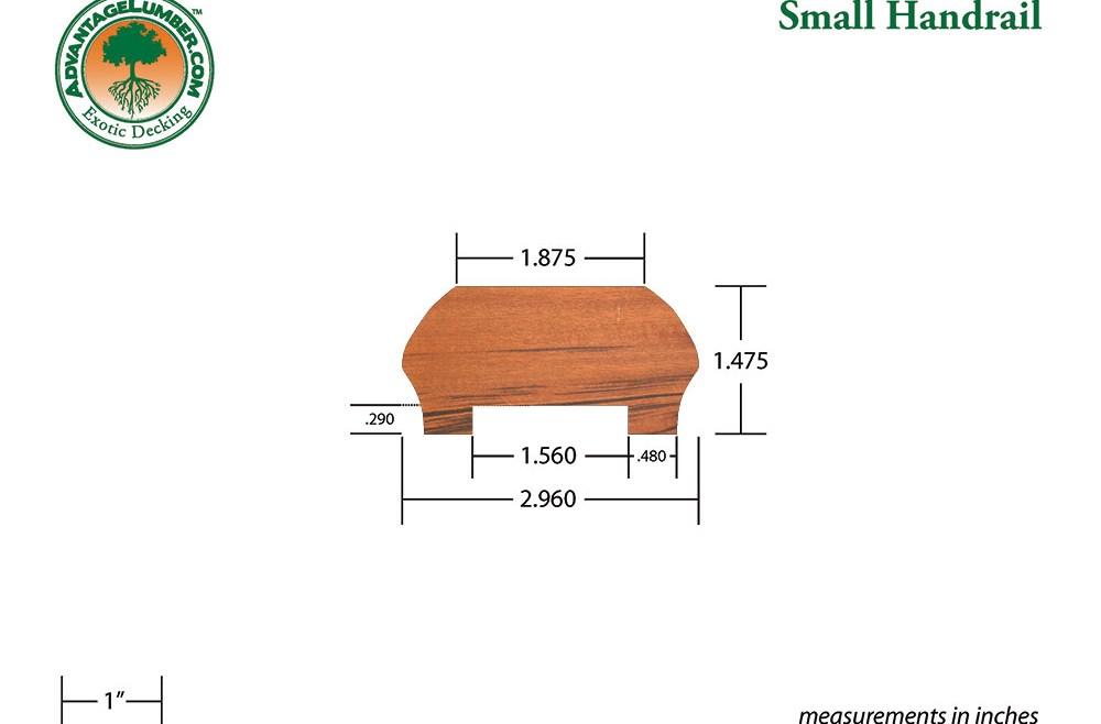 Ipe Decking Handrail Ipe Balusters | 2 Inch Round Wood Handrail | End Cap | Handrail Brackets | Stairs | Inch Diameter | Stair Railings